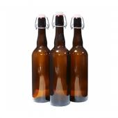 Бутылка с бугельной пробкой коричневое стекло 0,75 л (12 шт.)