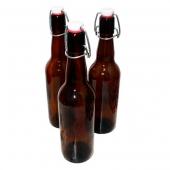 Бутылка с бугельной пробкой коричневое стекло 0,5 л (15 шт.)