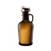 Бутылка с бугельной пробкой коричневое стекло 2 л