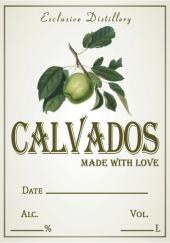"""Этикетка самоклеящаяся """"Кальвадос"""", прямоугольная, 70х100 мм, 20 шт"""