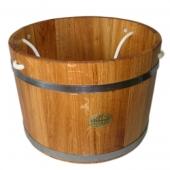 Шайка дубовая 23 литра веревка