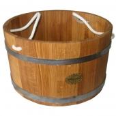 Шайка дубовая 35 литра веревка